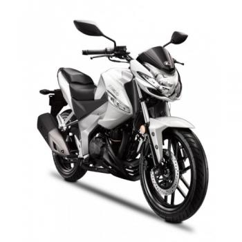 moto Visar 125i blanche
